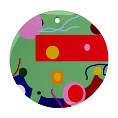 Optimistic abstraction Ornament (Round)