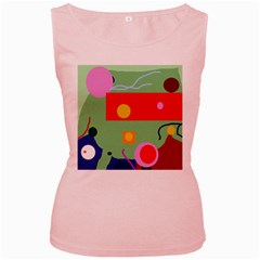 Optimistic abstraction Women s Pink Tank Top