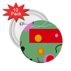 Optimistic abstraction 2.25  Buttons (10 pack)