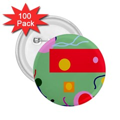 Optimistic abstraction 2.25  Buttons (100 pack)