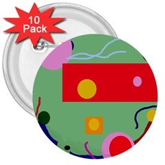 Optimistic abstraction 3  Buttons (10 pack)