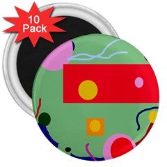 Optimistic abstraction 3  Magnets (10 pack)