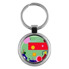 Optimistic abstraction Key Chains (Round)