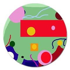 Optimistic abstraction Magnet 5  (Round)
