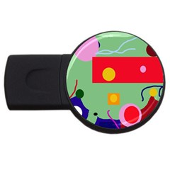 Optimistic abstraction USB Flash Drive Round (2 GB)