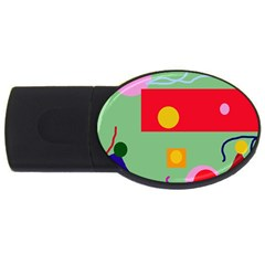 Optimistic abstraction USB Flash Drive Oval (2 GB)