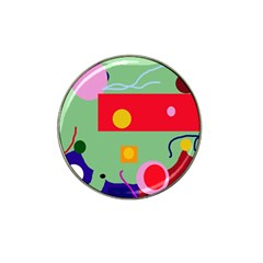 Optimistic abstraction Hat Clip Ball Marker (10 pack)