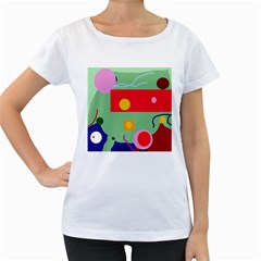 Optimistic abstraction Women s Loose-Fit T-Shirt (White)