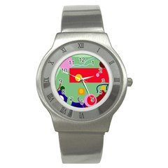 Optimistic abstraction Stainless Steel Watch
