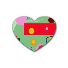 Optimistic abstraction Heart Coaster (4 pack)