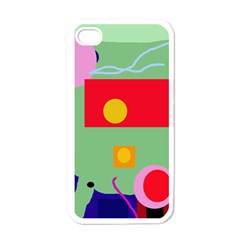 Optimistic abstraction Apple iPhone 4 Case (White)