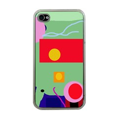 Optimistic abstraction Apple iPhone 4 Case (Clear)