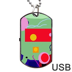 Optimistic abstraction Dog Tag USB Flash (One Side)
