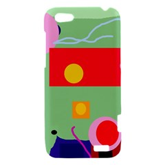 Optimistic abstraction HTC One V Hardshell Case