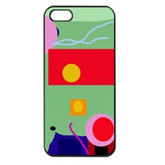 Optimistic abstraction Apple iPhone 5 Seamless Case (Black)