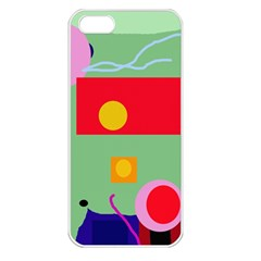 Optimistic abstraction Apple iPhone 5 Seamless Case (White)