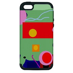 Optimistic abstraction Apple iPhone 5 Hardshell Case (PC+Silicone)
