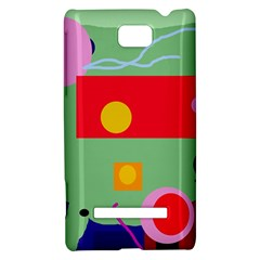 Optimistic abstraction HTC 8S Hardshell Case