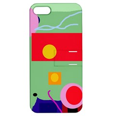 Optimistic abstraction Apple iPhone 5 Hardshell Case with Stand