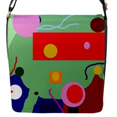 Optimistic abstraction Flap Messenger Bag (S)