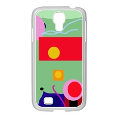 Optimistic abstraction Samsung GALAXY S4 I9500/ I9505 Case (White)
