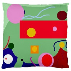 Optimistic abstraction Large Flano Cushion Case (One Side)