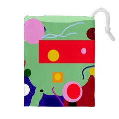 Optimistic abstraction Drawstring Pouches (Extra Large)