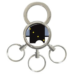 Abstract design 3-Ring Key Chains
