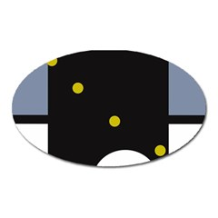 Abstract design Oval Magnet