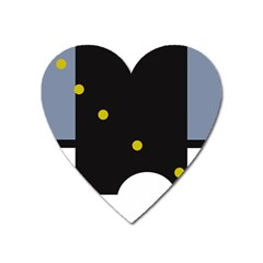 Abstract design Heart Magnet