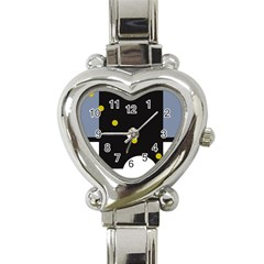 Abstract design Heart Italian Charm Watch