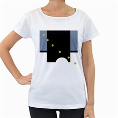 Abstract design Women s Loose-Fit T-Shirt (White)