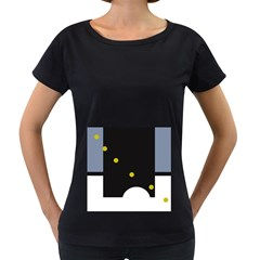 Abstract design Women s Loose-Fit T-Shirt (Black)