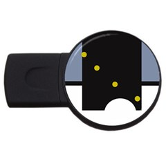 Abstract design USB Flash Drive Round (4 GB)