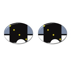 Abstract design Cufflinks (Oval)
