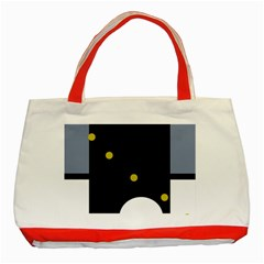 Abstract design Classic Tote Bag (Red)