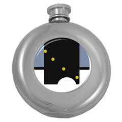 Abstract design Round Hip Flask (5 oz)