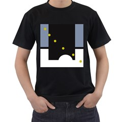 Abstract design Men s T-Shirt (Black)