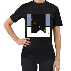 Abstract design Women s T-Shirt (Black)