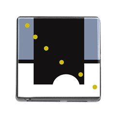 Abstract design Memory Card Reader (Square)