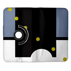 Abstract design Samsung Galaxy Note II Flip 360 Case