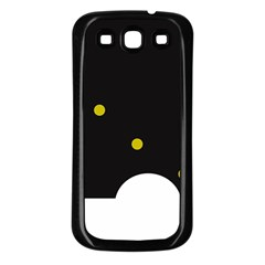 Abstract design Samsung Galaxy S3 Back Case (Black)
