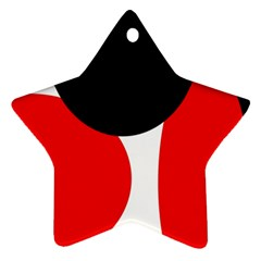 Red, black and white Ornament (Star)