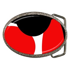 Red, black and white Belt Buckles