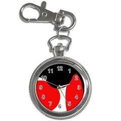 Red, black and white Key Chain Watches
