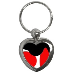 Red, black and white Key Chains (Heart)