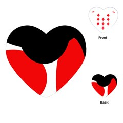 Red, black and white Playing Cards (Heart)