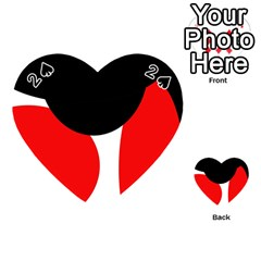 Red, black and white Playing Cards 54 (Heart)