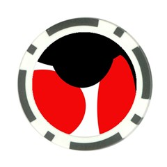 Red, black and white Poker Chip Card Guards