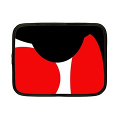 Red, black and white Netbook Case (Small)